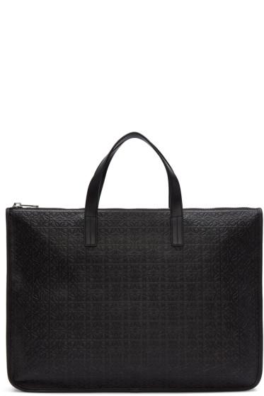 Loewe - Black Anagram Briefcase