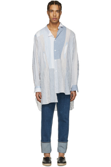 Loewe - White Striped Asymmetric Shirt