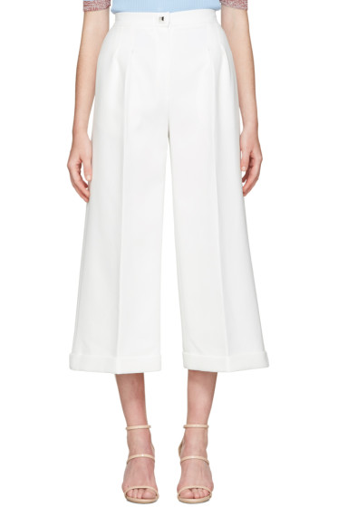 Fendi - White Pinch Trousers