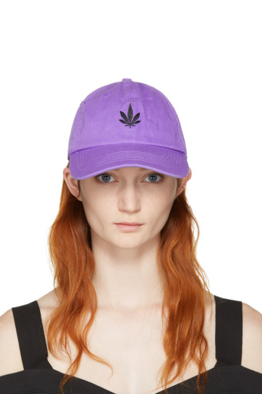 Palm Angels - Purple Vintage Weed Cap