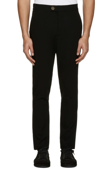Song for the Mute - Black Wool Tailored Trousers