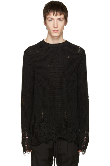 Song for the Mute - Black Oversized Beau Sweater