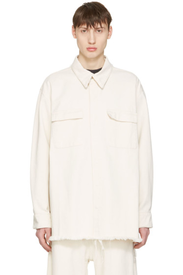 Marques Almeida - Off-White Denim Oversized Shirt