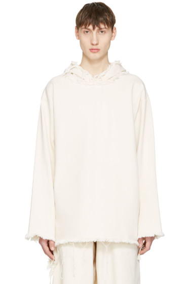 Marques Almeida - Off-White Denim Hoodie