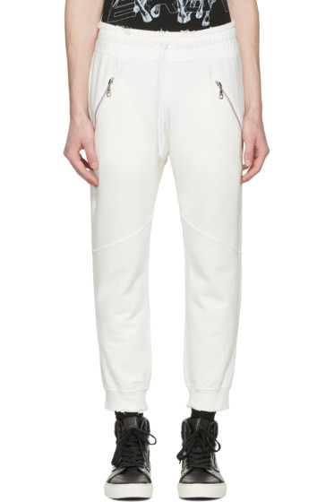 Baja East - White Slim Lounge Pants