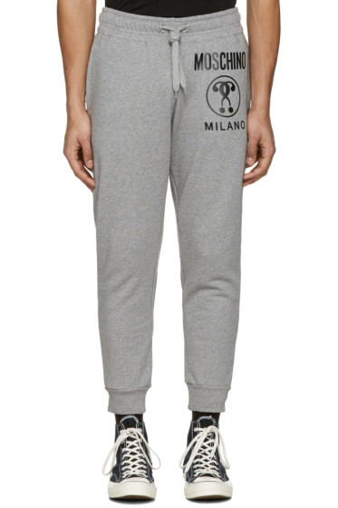 Moschino - Grey Logo Lounge Pants