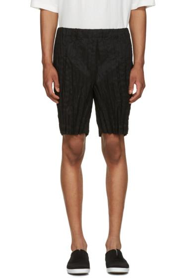 Issey Miyake Men - Black Wrinkled Linen Shorts