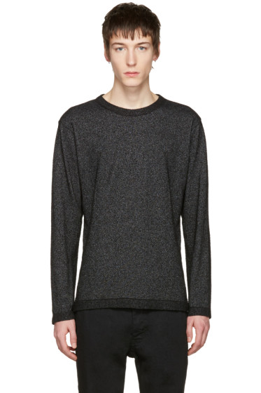 Issey Miyake Men - Black Bouclé Pullover