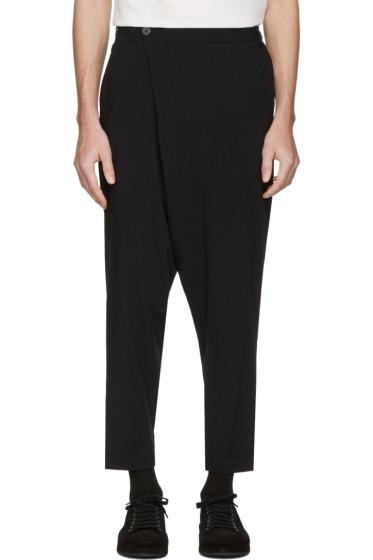 Isabel Benenato - Black Wrap Front Trousers