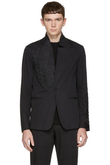 Isabel Benenato - Black Embroidered Blazer