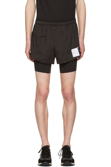 Satisfy - Black Layered Long Distance Shorts
