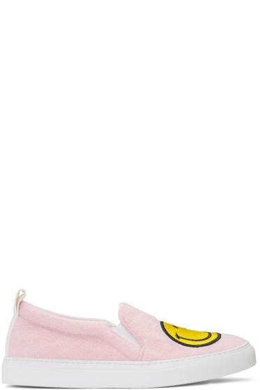Joshua Sanders - Pink Smile Slip-On Sneakers
