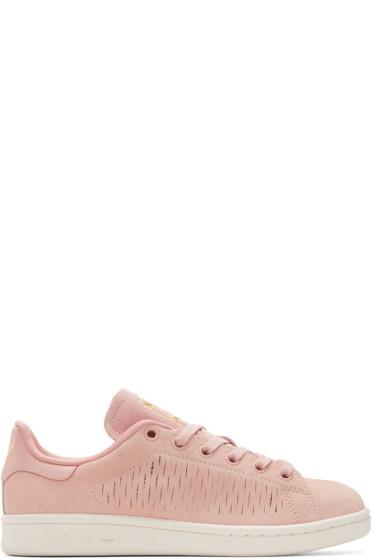 adidas Originals - Pink Suede Stan Smith Sneakers