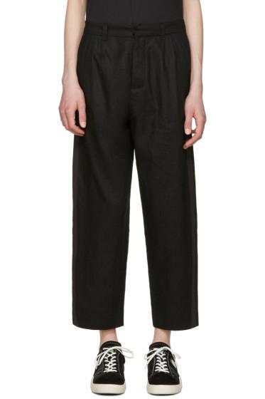 Fanmail - Black Pleated Stripe Trousers
