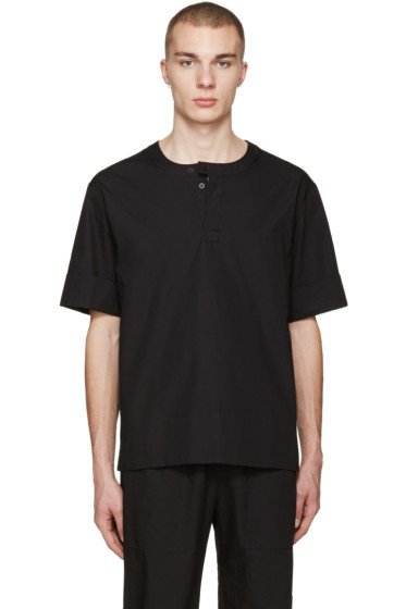 Phoebe English - Black Poplin T-Shirt
