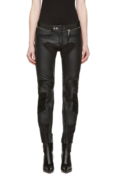 Alyx - Black Leather Moto Trousers