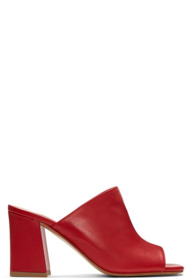 Maryam Nassir Zadeh - Red Penelope Slide Sandals