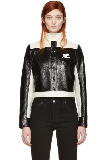 Courrèges - Black Short Logo Jacket