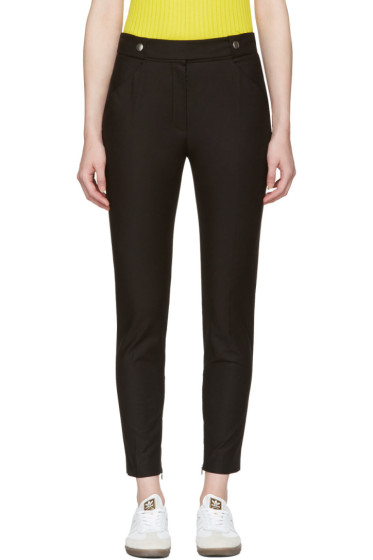 Courrèges - Black Button Belt Trousers