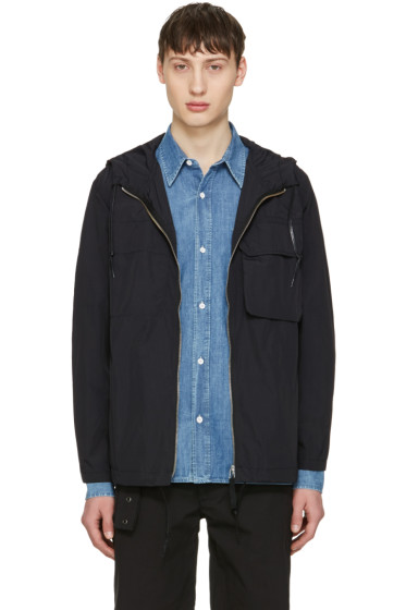 Our Legacy - Navy Nylon Cropped Lizard Parka