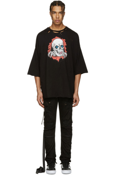Unravel - Black Distressed Brigade T-Shirt