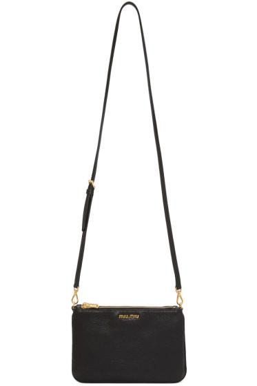 Miu Miu - Black Double Zip Shoulder Bag