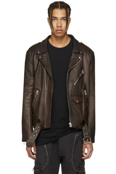 Faith Connexion - Burgundy Leather Jacket