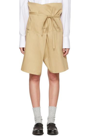 Bless - Beige Wrap Shorts