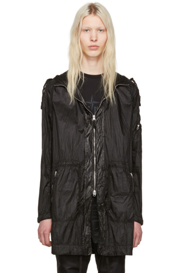 Stone Island Shadow Project - Black Zip Pockets Coat