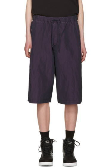 Stone Island Shadow Project - Purple Iridescent Bermuda Shorts