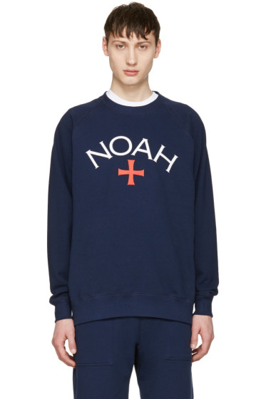 Noah NYC - Navy Logo Pullover