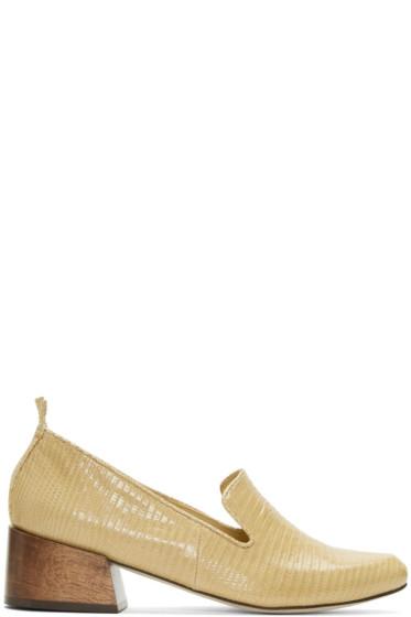 Mari Giudicelli  - Beige Lizard Gaeva Loafers