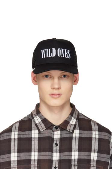 Amiri - Black 'Wild Ones' Trucker Cap