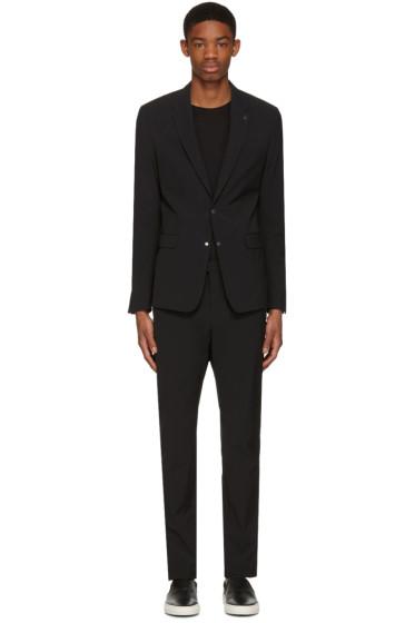 Philippe Dubuc - Black Poplin Zippered Suit