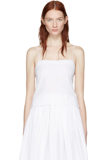 Khaite - White Cropped Bekita Camisole