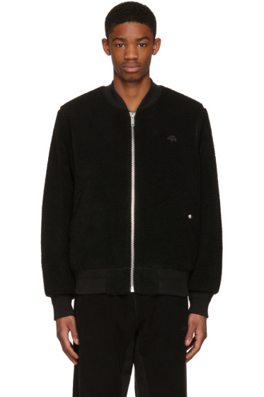 adidas Originals by Alexander Wang - Reversible Black Bomber Jacket