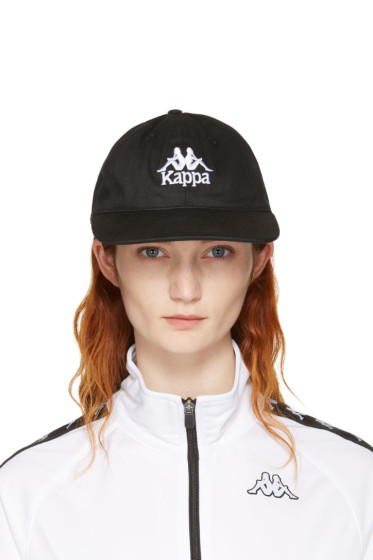Kappa - SSENSE Exclusive Black Logo Cap