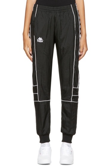 Kappa - Pantalon de survêtement coupe-vent noir exclusif à SSENSE