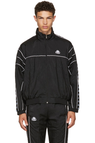 Kappa - SSENSE Exclusive Black Windbreaker Track Jacket