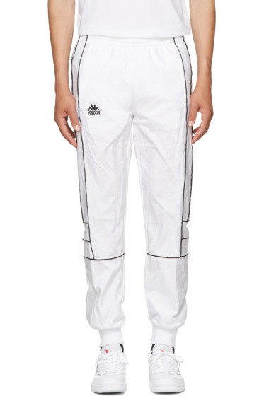Kappa - SSENSE Exclusive White Windbreaker Track Pants