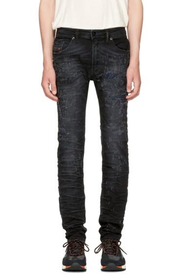 Diesel - Black Thommer Scratch Jeans