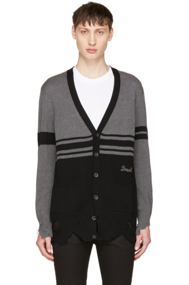 Diesel - Black & Grey K-Obain Cardigan