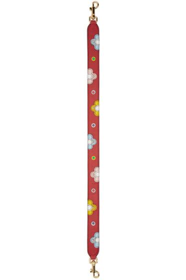 Dolce & Gabbana - Red Short Colorblock Shoulder Strap