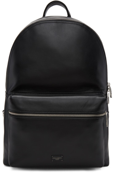 Dolce & Gabbana - Black Leather Backpack