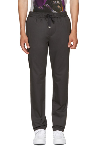 Dolce & Gabbana - Grey Tapered Drawstring Trousers