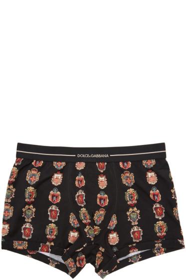 Dolce & Gabbana - Black Crest Boxer Briefs