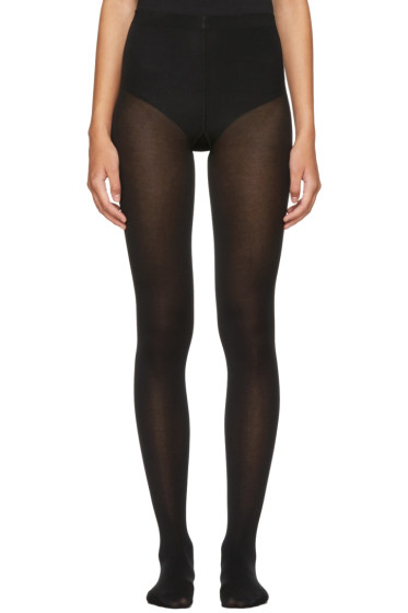 Wolford - Black Cotton Velvet Tights
