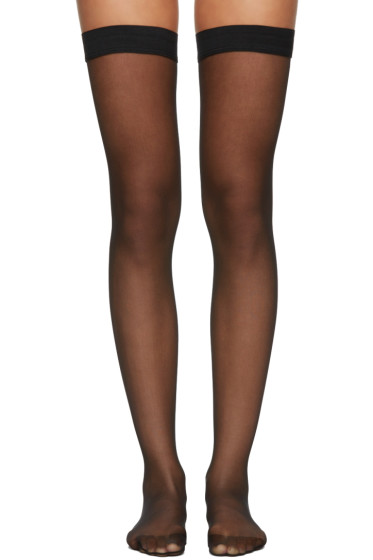 Wolford - Black Individual 10 Stay-Up Stockings
