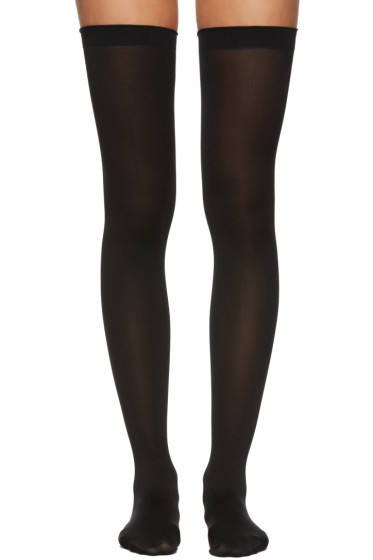 Wolford - Black Fatal 80 Seamless Stay-Up Stockings
