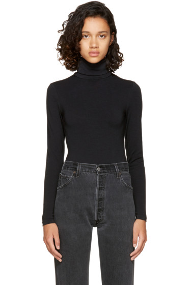 Wolford - Black Colorado String Turtleneck Bodysuit